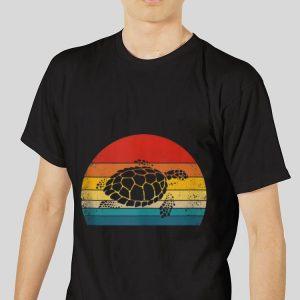 The best trend Vintage Sea Turtle Retro Silhouette shirt 2