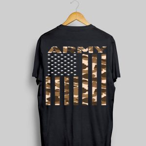 US Army Flag, Infantry Ranger Camouflage Brown shirt