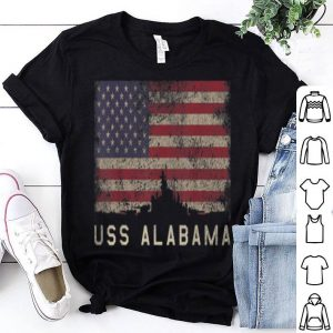 Uss Alabama Bb60 Battleship Usa Flag shirt