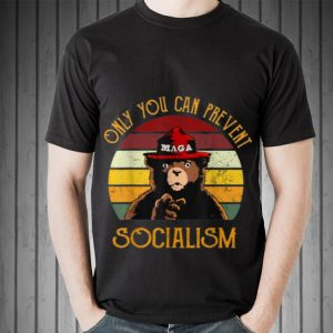 Vintage Only You Can Prevent Socialism Maga Bear hoodie