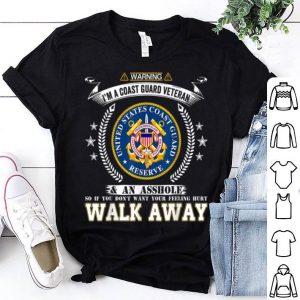 Warning I'm A Coast Guard Veteran Cool shirt