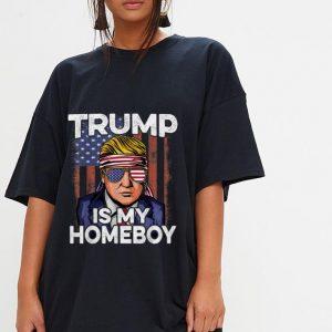 Wonderful Donald Trump Is My Homeboy Glasses Headband Usa Flag 4th Of July shirt 2