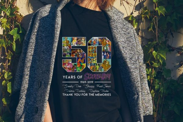 50 Years of 1969-2019 Scooby Doo Signature Thank You For Memories sweater