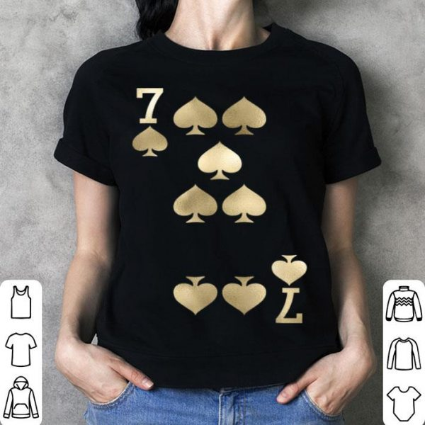 Awesome 7 Of Spades - Playing Card Halloween Costume shirt