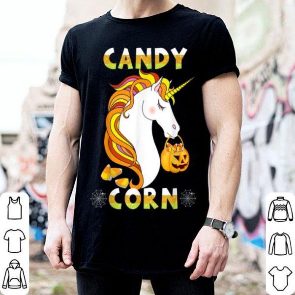 Awesome Candy Corn Unicorn Cute Halloween Costume For Kids Teacher shirt
