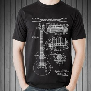 Awesome Guitar Patent Print 1955 shirt 1