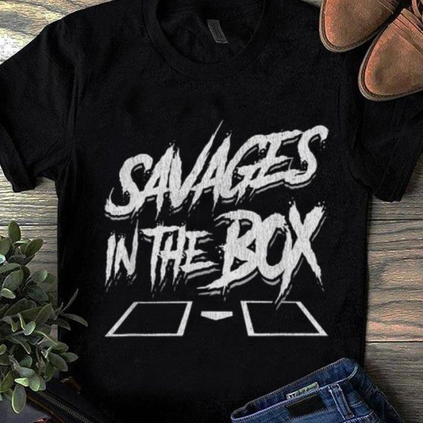 Awesome Trend Savages In The Box Baseball shirt