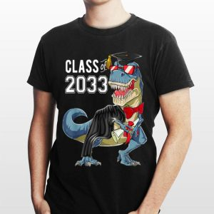 Class of 2033 Dinosaur Grow with me First day of shool shirt