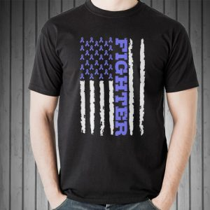 Fighter Cancer Awareness American Flag sweater