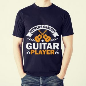 Funny World's Okayest Guitar Player Acoustic Guitar shirt