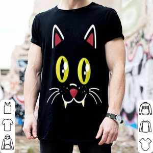 Nice Halloween Cat Face Funny Halloween Costume shirt