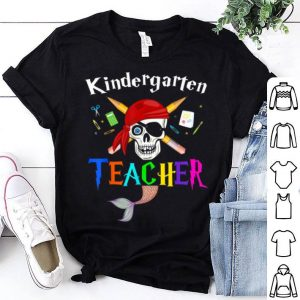 Nice Kindergarten Pirate Teacher Mermaid Tail-birthday Halloween shirt