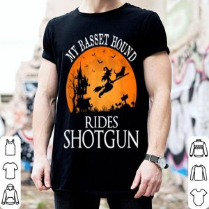Official Basset Hound Rides Shotgun Dog Lover Halloween Party Gift shirt