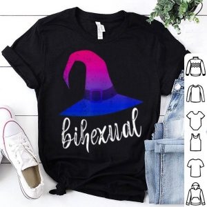 Official Bisexual Witch Pun Bihexual Bi Pride Flag Colors Halloween shirt