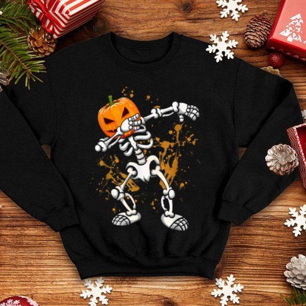 Official Dabbing Skeleton Pumpkin Halloween Dabbing Gift shirt