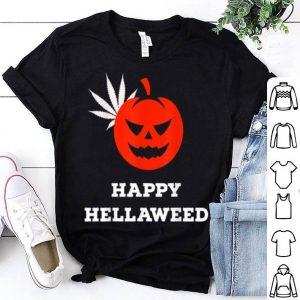 Official Happy Hellaweed - Funny Cannabis Marijuana Weed Halloween shirt