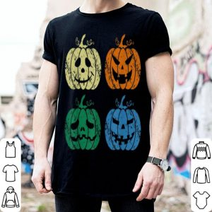 Official Vintage Retro Scary Pumpkin Face Halloween Costume Gift shirt