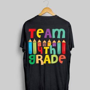 Pencils 4th Grade Heart First Day Of Shool Teacher Student shirt