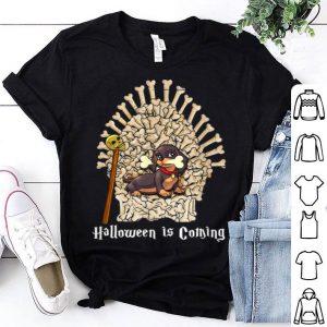 Premium Dachshund Throne Funny Halloween shirt