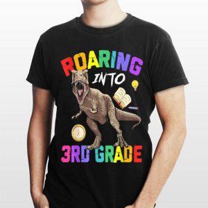 Roaring Into 3Rd Grade Dinosaur Back To Shool shirt