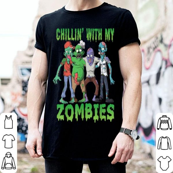 Top Chillin With My Zombies Funny Halloween Costume Zombie shirt