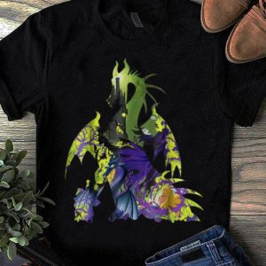 Top Disney Sleeping Beauty Maleficent Dragon Silhouette shirt