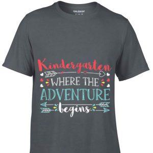 Top Kindergarten Where the Adventure begin guy tee