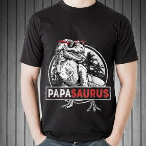 Top T rex Papa Saurus Dinosaur Sunglass guy tee
