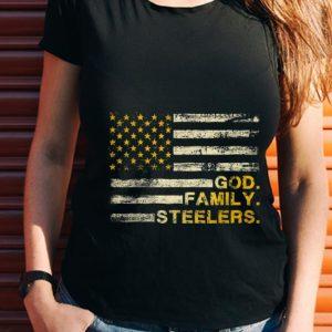 Wonder God Family Steelers Pro American Flag shirt