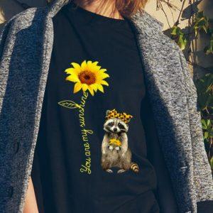 You Are My Sunshine Raccoons Sunflower sweater