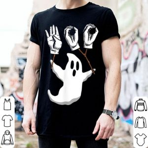 Awesome Boo Asl Sign Language Funny Boo Halloween shirt