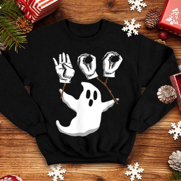 Awesome Boo Asl Sign Language Funny Boo Halloween shirt