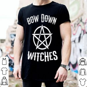 Awesome Bow Down Witches Funny Pentagram Halloween Wizards shirt