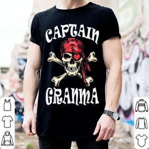 Awesome Captain Grandma Pirate Theme Halloween Costume shirt