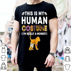Awesome This Is My Human Monkey Halloween Costume shirt