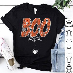 Awesome Vintage Halloween Boo With Spiders And Skeletons Fun Cute shirt