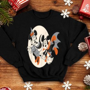 Beautiful Disney Halloween Mickey And Minnie Flying shirt