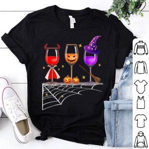 Beautiful Glasses Of Wine - Halloween Costume Dracula Pumpkin shirt