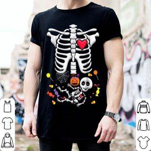 Beautiful Pregnant Skeleton Candy Halloween shirt