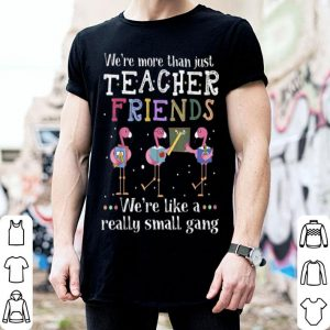 Beautiful We're More Than Just Teacher Friends Flamingo shirt