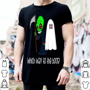 Beautiful Which Way To Boos Drinking Ghost Grim Reaper Funny Halloween shirt