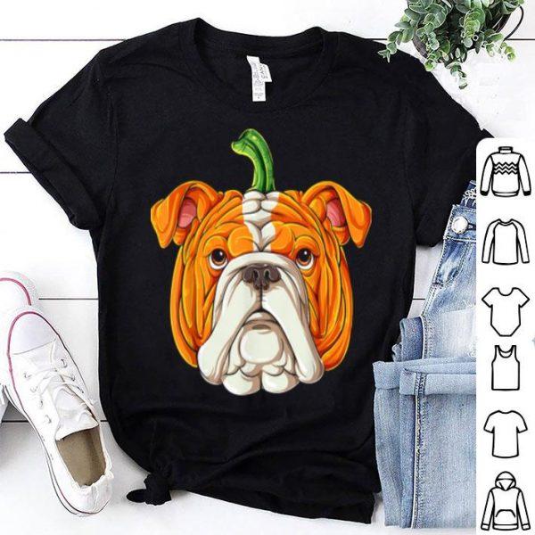 English Bulldog Pumpkin Halloween Kids Thanksgiving shirt