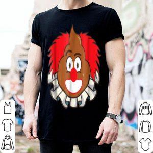 Funny Halloween Poop Emoji In Scary Clown Costume shirt