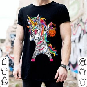 Halloween Unicorn Dabbing Pumpkin shirt