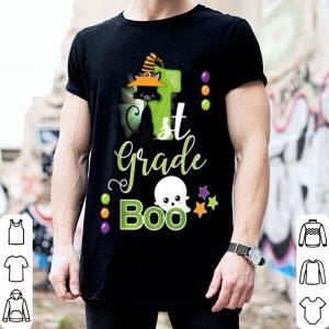Hot First Grade Halloween Cute Boo Ghost & Kitty Girls Boys shirt