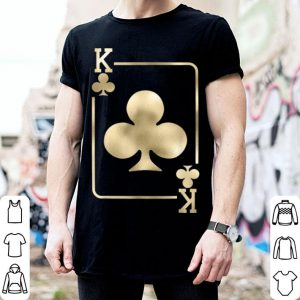 Hot King Of Clubs Playing Card Halloween Costume Glam shirt