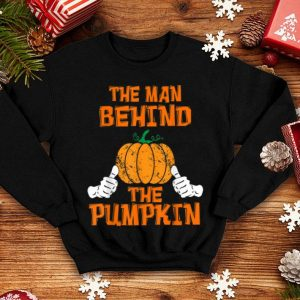 Hot Mens Halloween Pregnancy Baby Reveal Man Behind The Pumpkin Funny shirt