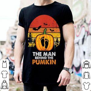 Hot Mens The Man Behind The Pumpkin Halloween Costume New Daddy Gift shirt