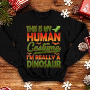 Human Costume Dinosaur Halloween Gifts Boys Kids shirt