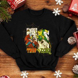Marvel Thor Loki Halloween Bats Webs Retro Graphic shirt